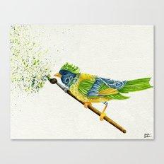 Feathers & Flecks (Canvas Background Edition) Canvas Print