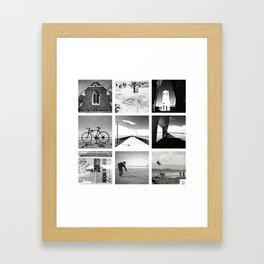 "KIWI square/ ""NEW BRIGHTON"" Framed Art Print"