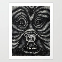 Pig Human Art Print