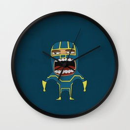 Screaming Kick-Ass Wall Clock