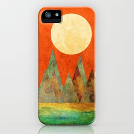 Many Moons Ago, Abstract Landscape Art iPhone Case