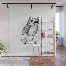 Ride On Owl Wall Mural