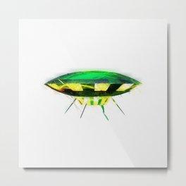 Retro UFO Metal Print