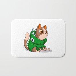Cat dinosaur costume Bath Mat