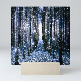 Magical Forest Dark Blue Elegance Mini Art Print