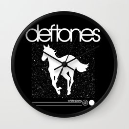 Deftone White Pony Wall Clock