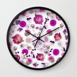 Flower potpourri Wall Clock