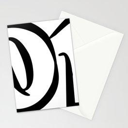 01 black on white Stationery Cards