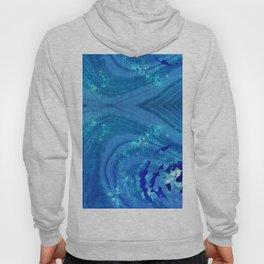 Blue Abstract Modern Art - Infinity - Sharon Cummings Hoody