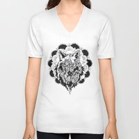 bad wolf V-neck T-shirts featuring Bad Wolf by Carina Maitch