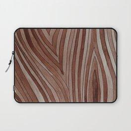 Brown Wood Grain Laptop Sleeve