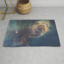 Stars and gas nebula in Universe Rug