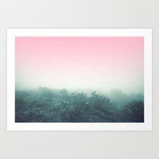Pink to Blue Art Print