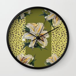 Tiger Lillys and Dots Wall Clock