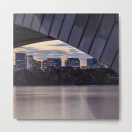 Rosslyn, Virginia framed by the Arlington Memorial Bridge  Metal Print