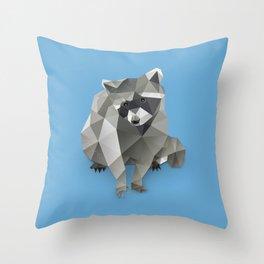 Racoon. Throw Pillow