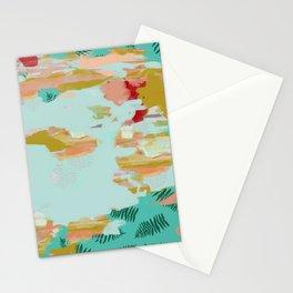 Seafoam Fern Collage Stationery Cards