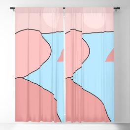 Happy Place - Blue Blush Blackout Curtain