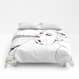 Sweet Nibblets in white Comforters