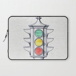 Traffic lights watercolor Laptop Sleeve