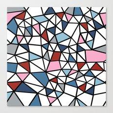 Segment Pink and Blue Canvas Print