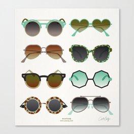 Sunglasses Collection – Mint & Tan Palette Canvas Print