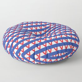 Paranoia (Blue and Red) Floor Pillow