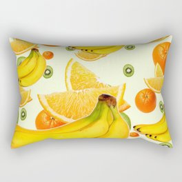 TROPICAL BANANAS-KIWI-ORANGES KITCHEN  ABSTRACT ART Rectangular Pillow