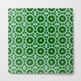 Green Doily Metal Print