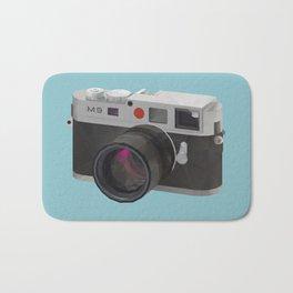 Leica M9 Camera polygon art Bath Mat