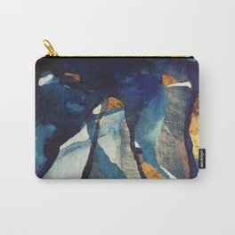 Cobalt Abstract Carry-All Pouch