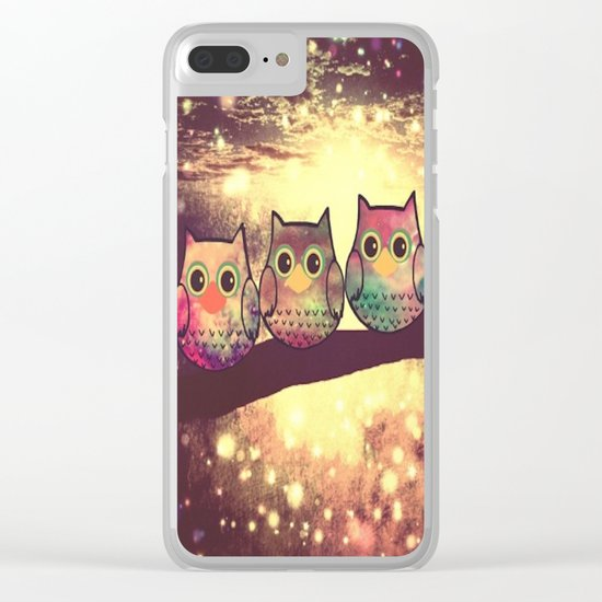 owl-1 Clear iPhone Case