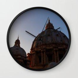 St. Peter's Basilica at dusk Wall Clock