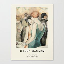 Poster-Jeanne Mammen-Zwei frauen. Canvas Print