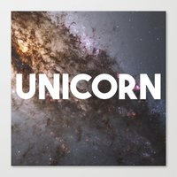 the last unicorn Canvas Prints featuring Unicorn by eARTh