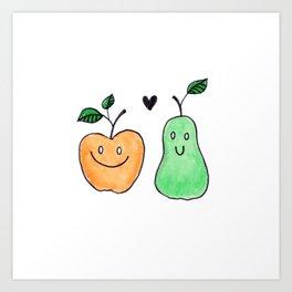 Fruit Friends Art Print