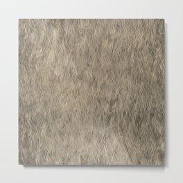 Abstract Fur Texture -Beige Metal Print