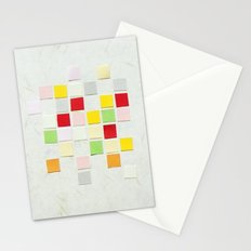 Colour Blocks Papercut Stationery Cards