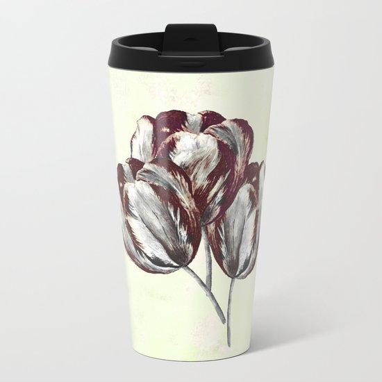 The vivid tulips eat my oxygen. Metal Travel Mug