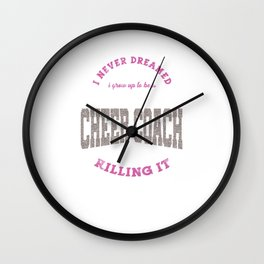 Cool Super Cute Cheer Cheerleading Awesome Coach Gifts Wall Clock