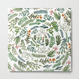 circular new white garden Metal Print