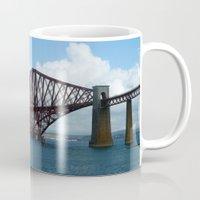 scotland Mugs featuring Forth Bridge, Scotland by Phil Smyth