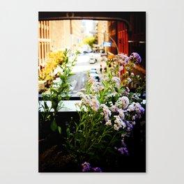 City Wild Flowers Canvas Print