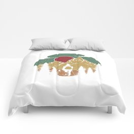 Forest Nature Camping Vibrant Design Comforters
