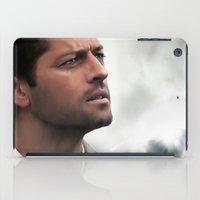 castiel iPad Cases featuring Castiel by LindaMarieAnson