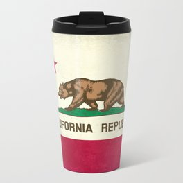 California Republic Flag Metal Travel Mug