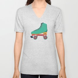 old school roller skate Unisex V-Neck