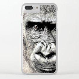 Gorilla Sketch Clear iPhone Case