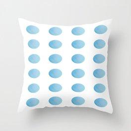 Sky Blue Watercolour Polka Dots Throw Pillow