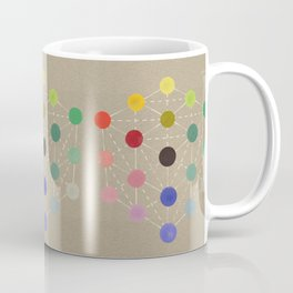 Colour cube (black point), Manual of the science of colour by W. Benson, 1871, Remake, vintage wash Coffee Mug